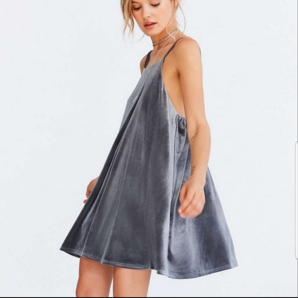 Urban Outfitters Dresses & Skirts - UO KIMCHI BLUE velvet strappy mini frock dress